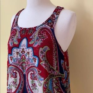 Patrons of Peace Tops - Patrons of Peace Layered Paisley Boho Tank Top
